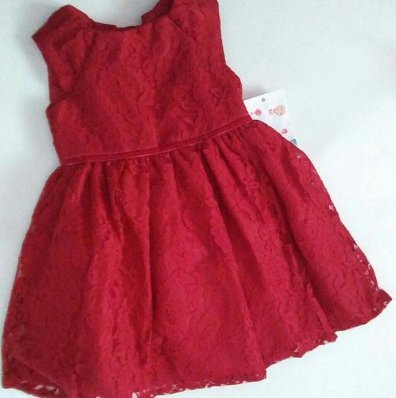eb06fbae67fa9 Mia & Mimi Dresses | Toddler Girls Lace Dress Red 2t Sleeveless Nwt ...