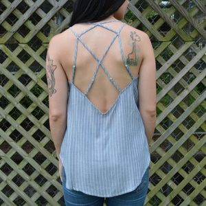 Tops - Chambray Striped Top