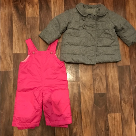 31f21ce93689 GAP Other - Baby Girl winter coat snow pants Lot size 6-12m