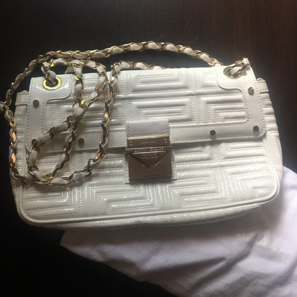 ec35bd1d40 Designer bag Versace white and gold chain purse Boutique
