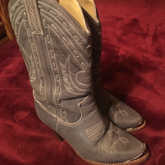 3404a2d59d1 Zodiac gray cowgirl boots made in USA 51/2