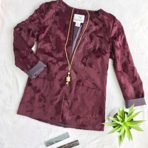 Tabitha Talley Faux Fur jacket in Merlot