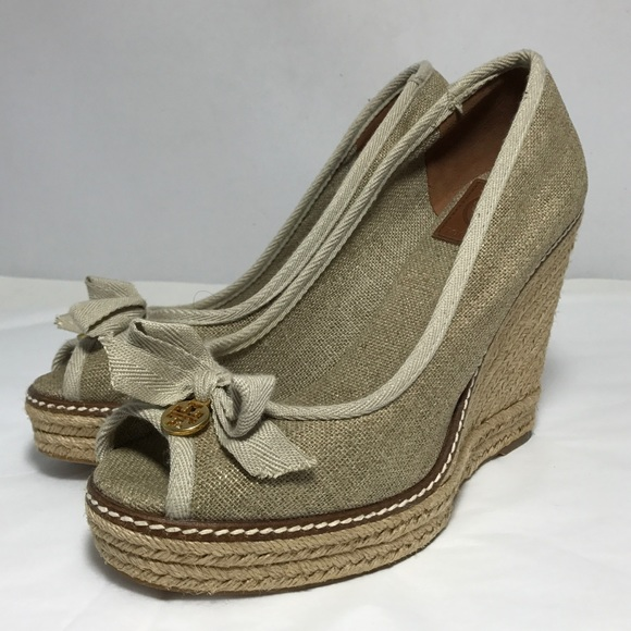 fc3d9136f6a TORY BURCH JACKIE ESPADRILLE WEDGES 8.5