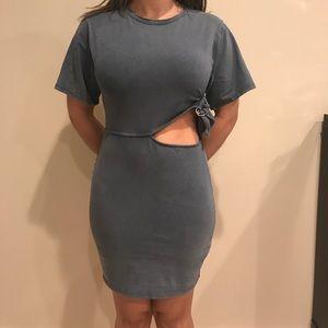Zara Basic Blue Short Sleeve Dress Size Small NWT