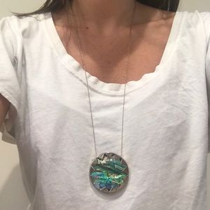House of Harlow 1960 Sunburst Pendant Necklace 26""
