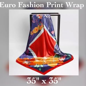 Accessories - ✨Satin Floral Printed Wrap / Shawl