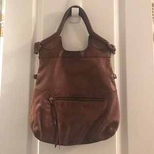Anna Corina Brown Leather Shoulder Bag