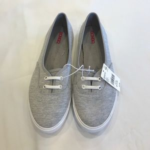 SALE! Gray and White Slip On Tennis Shoes