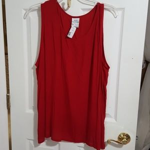 Tops - Sleeveless plus size 22 red crinkle tank top