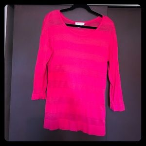 Cute pink summer sweater