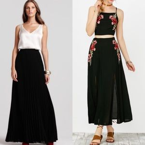 Dresses & Skirts - 5/$25 Embroidered Black Maxi Skirt