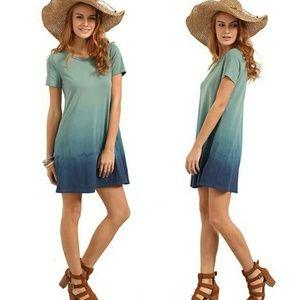 OMBRE T-SHIRT DRESS
