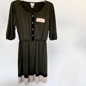 Sweet Storm Army Green Button Dress