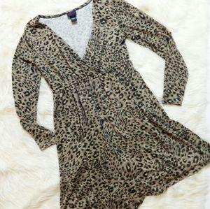Torrid Leopard Faux Wrap Dress