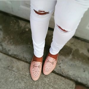 🆕// The Regina// Blush pink studded Slides