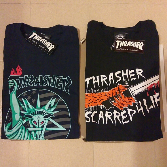 a50ee29d Supreme Shirts | Thrasher Liberty Goat And Bloody Hand Bundle | Poshmark