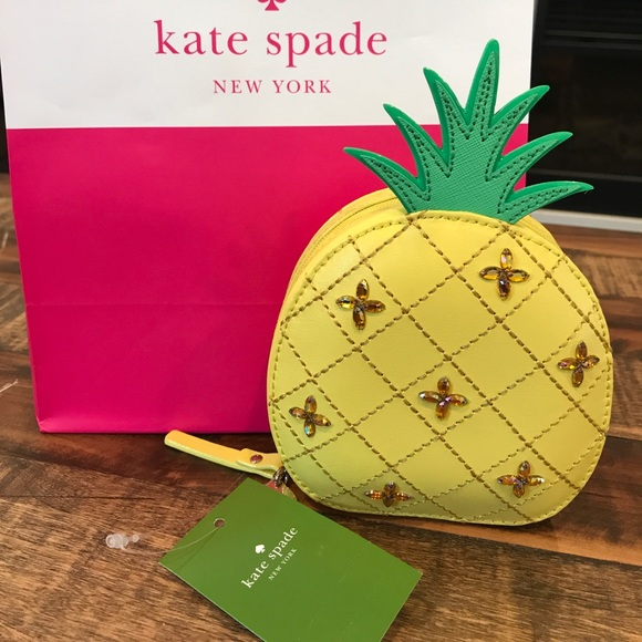 c9d4a782acd8 kate spade Bags | Pineapple Coin Purse How Refreshing Nwt | Poshmark