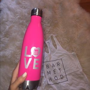 Bar method pink water bottle