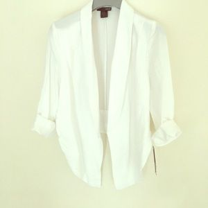 New Aqua light weight white jacket