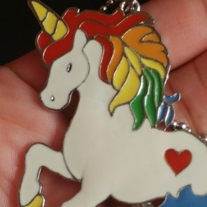 Jewelry - Adorable and Colorful Unicorn Necklace