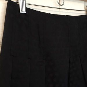 Anthropologie Black Jacquard Dot Skirt