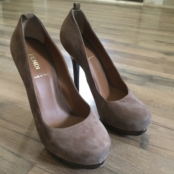 Fendi Suede High Heel