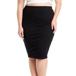 Dresses & Skirts - Black Ribbed MIdi skirt