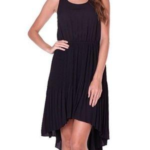 Black Hi Lo Pleated dress