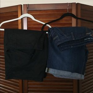 Pair of plus size Bermuda shorts