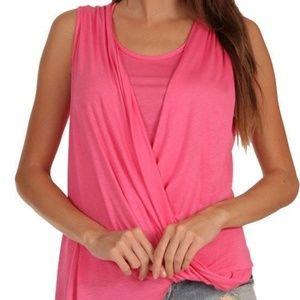 Pink Asymmetric Hem Top