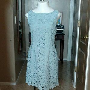 Beautiful Light Blue Lace Tahari Dress EUC!