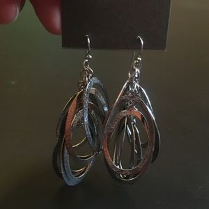 NWT- Express silver earrings
