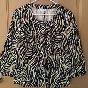 Charter Club Cotton/Spandex Blazer/Jacket