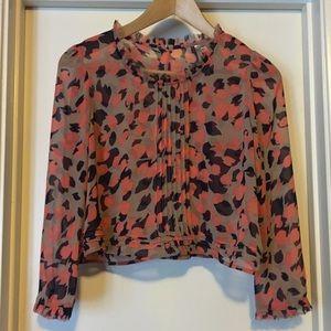 Tops - Printed Long sleeve Crop Top
