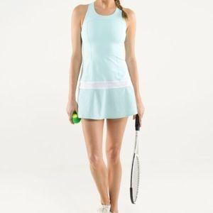 NWT Aqua/White Hot Hitter Dress