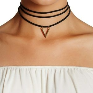 👀 Sterling Forever layered black choker