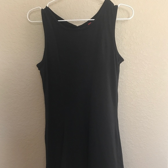 Plain Black Short Dresses