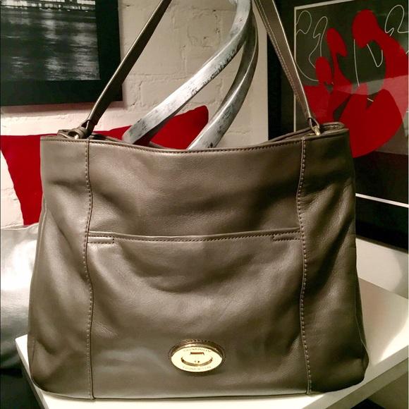Tignanello medium green (olive) leather satchel