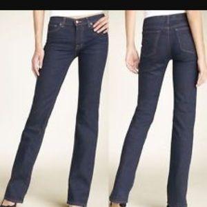 J Brand Mid Rise Straight Leg Jeans. Size 25