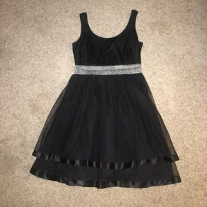 Dresses & Skirts - Black tulle (tutu) dress with silver band