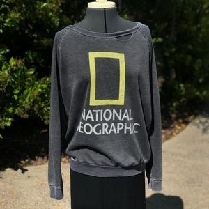 Tops - Distressed National Geographic top