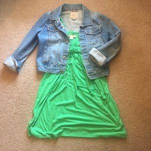 Green Jonathan Martin gathered Jersey dress