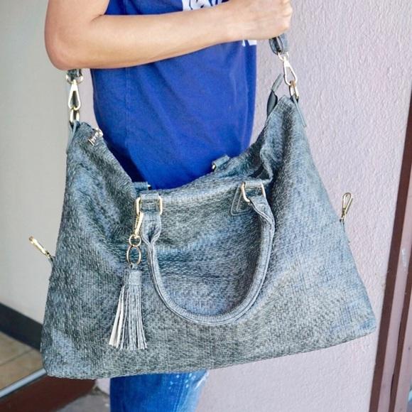 Pink Haley Handbags - Large grey tote FINAL PRICE