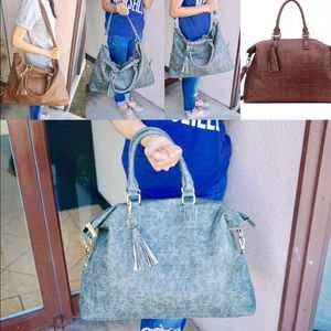 Pink Haley Bags - Large grey tote FINAL PRICE