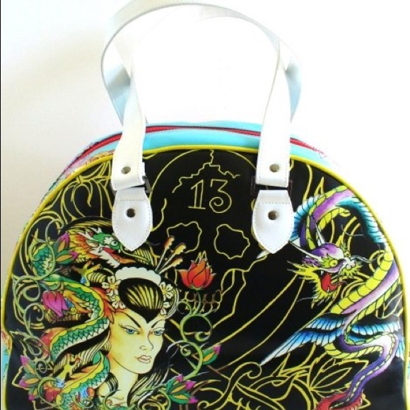 3a645fc6a9 Ed Hardy Handbags - Ed Hardy authentic tattoo large bag EUC