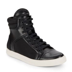 Kenneth Cole Double Up High Top Sneakers black