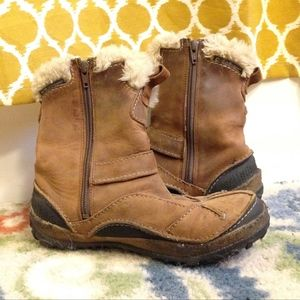 6c71e17a9ee91 Merrell Shoes | Taiga Buckle Waterproof Camel Womens Boots | Poshmark