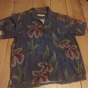 TOMMY BAHAMA Men's Silk Shirt Size XL 2017