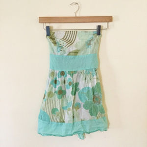 Tops - Floral, lightweight tube top (ties @ back)