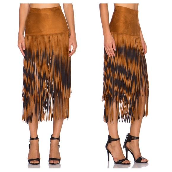 cd98995cf Faux Suede Fringe Skirt from Revolve. M_59c20b154127d00af90015e1
